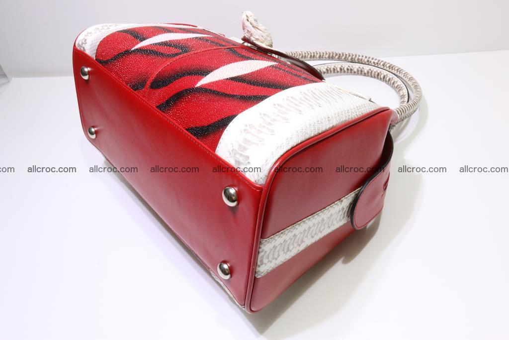 Stingray skin womens handbag 397 Foto 8