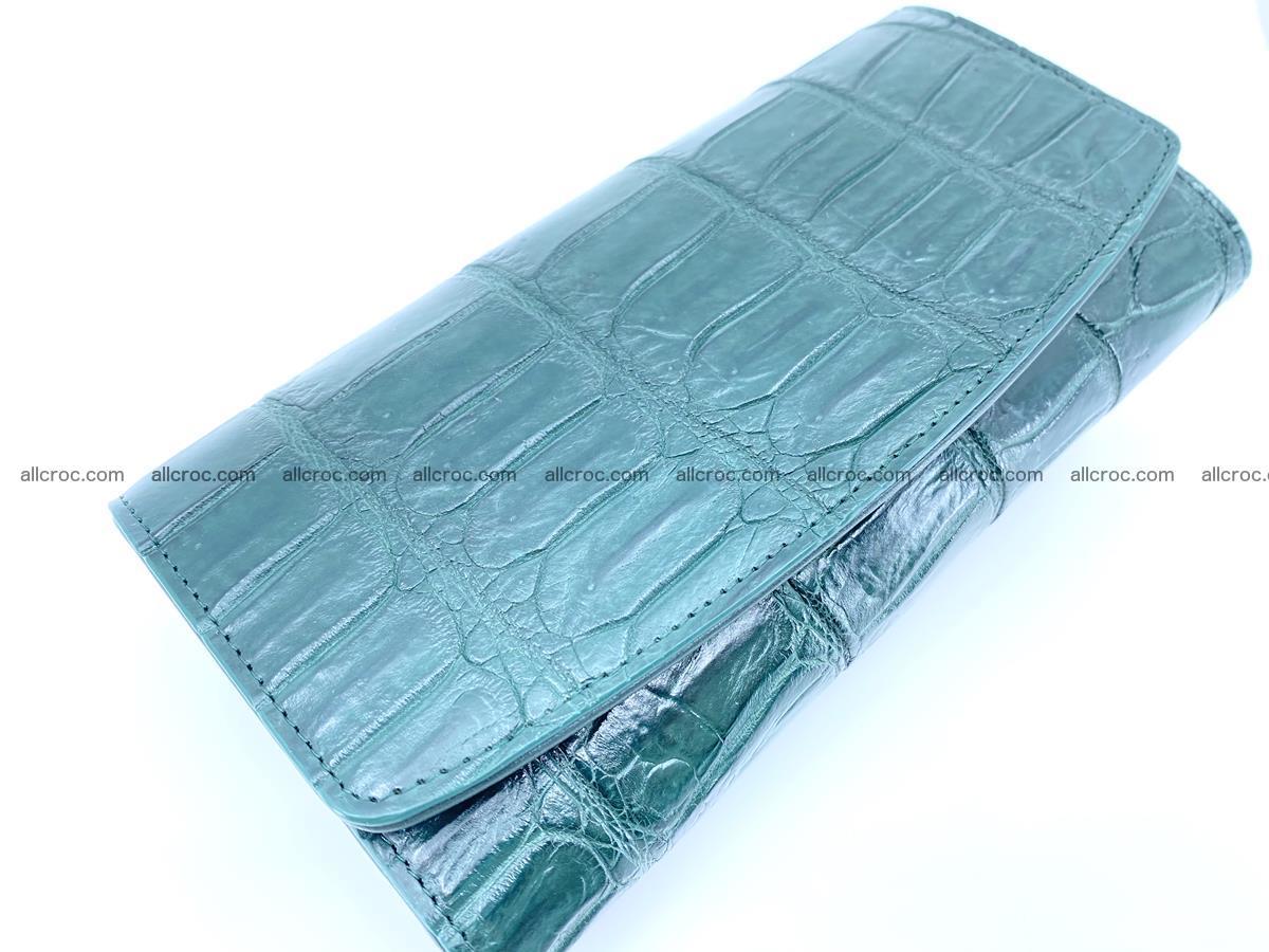 Crocodile leather long wallet trifold 624 Foto 2