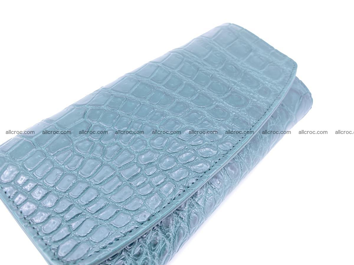 Crocodile leather long wallet trifold 623 Foto 2