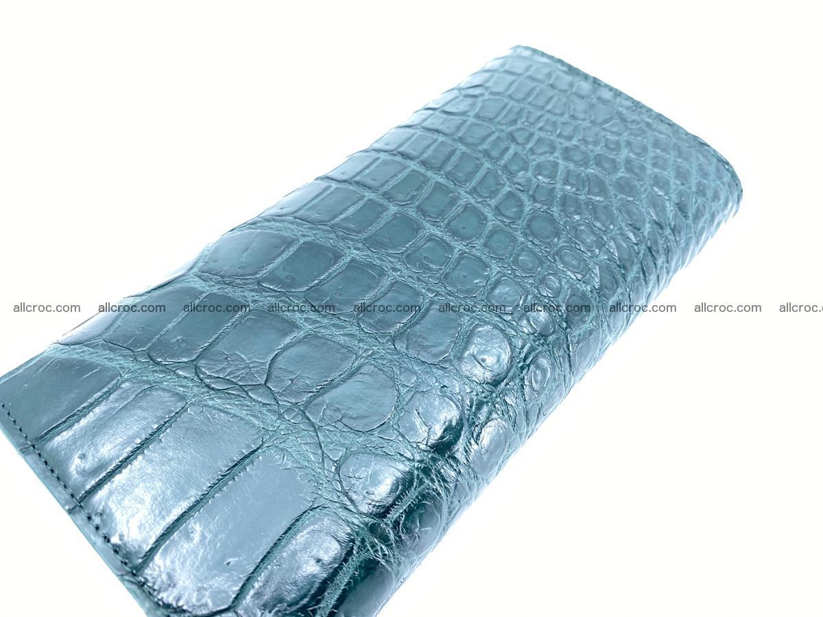 Crocodile leather long wallet trifold 623 Foto 3