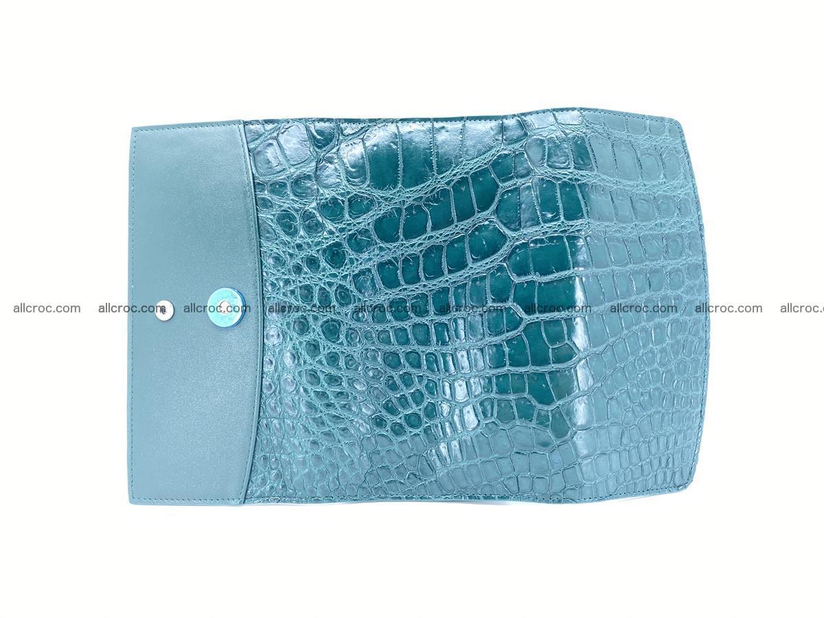 Crocodile leather long wallet trifold 623 Foto 7