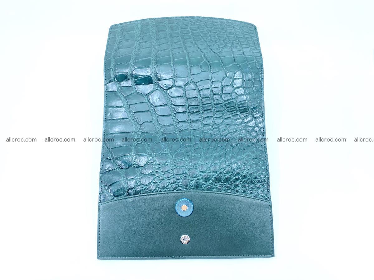 Crocodile leather long wallet trifold 623 Foto 9
