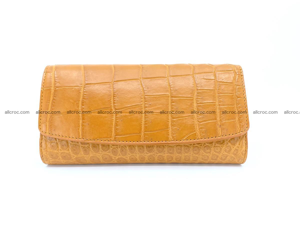 Crocodile leather long wallet trifold 627 Foto 0