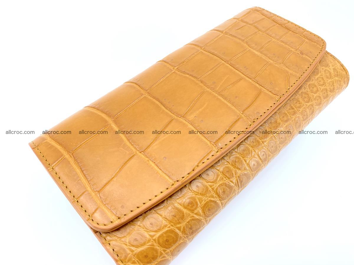 Crocodile leather long wallet trifold 627 Foto 3