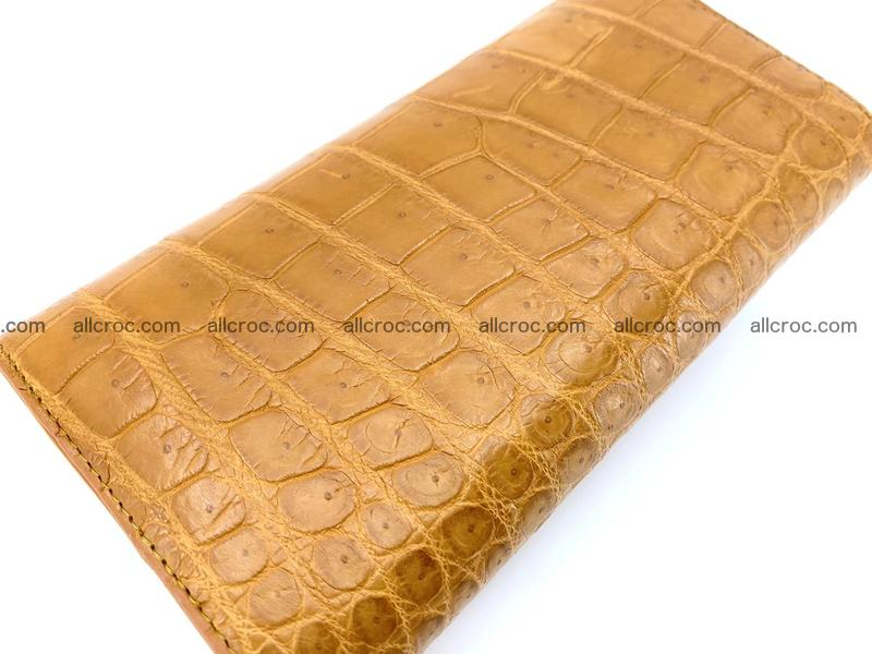 Crocodile leather long wallet trifold 627
