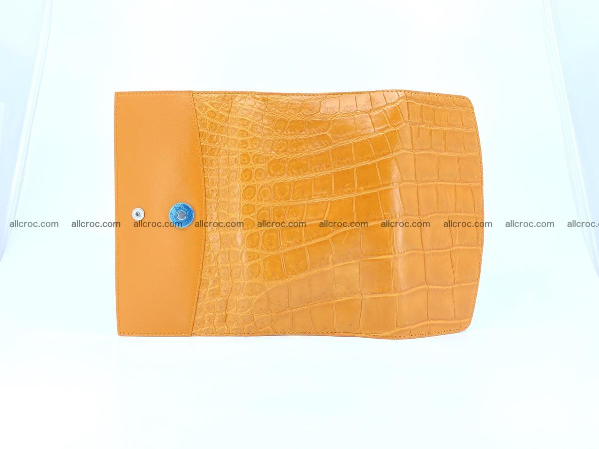 Crocodile leather long wallet trifold 627 Foto 7