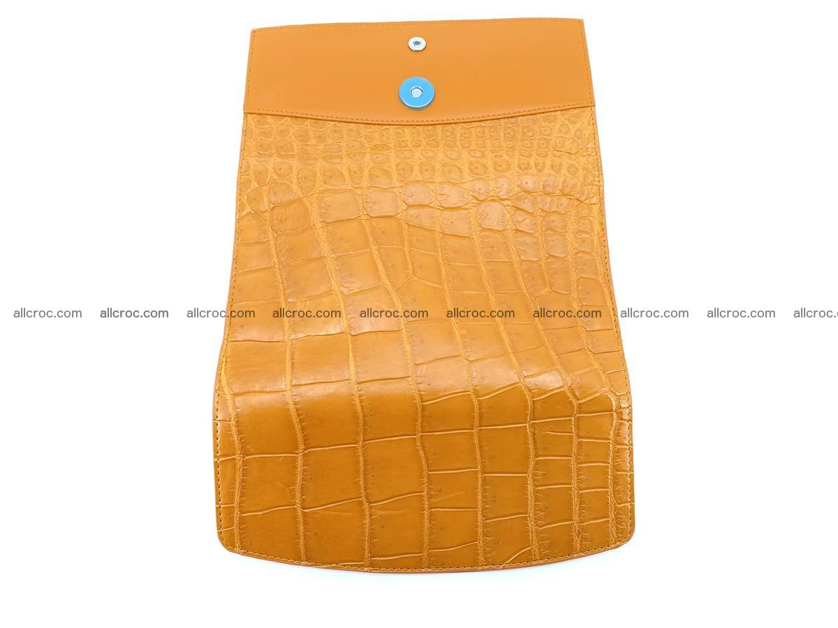 Crocodile leather long wallet trifold 627 Foto 8