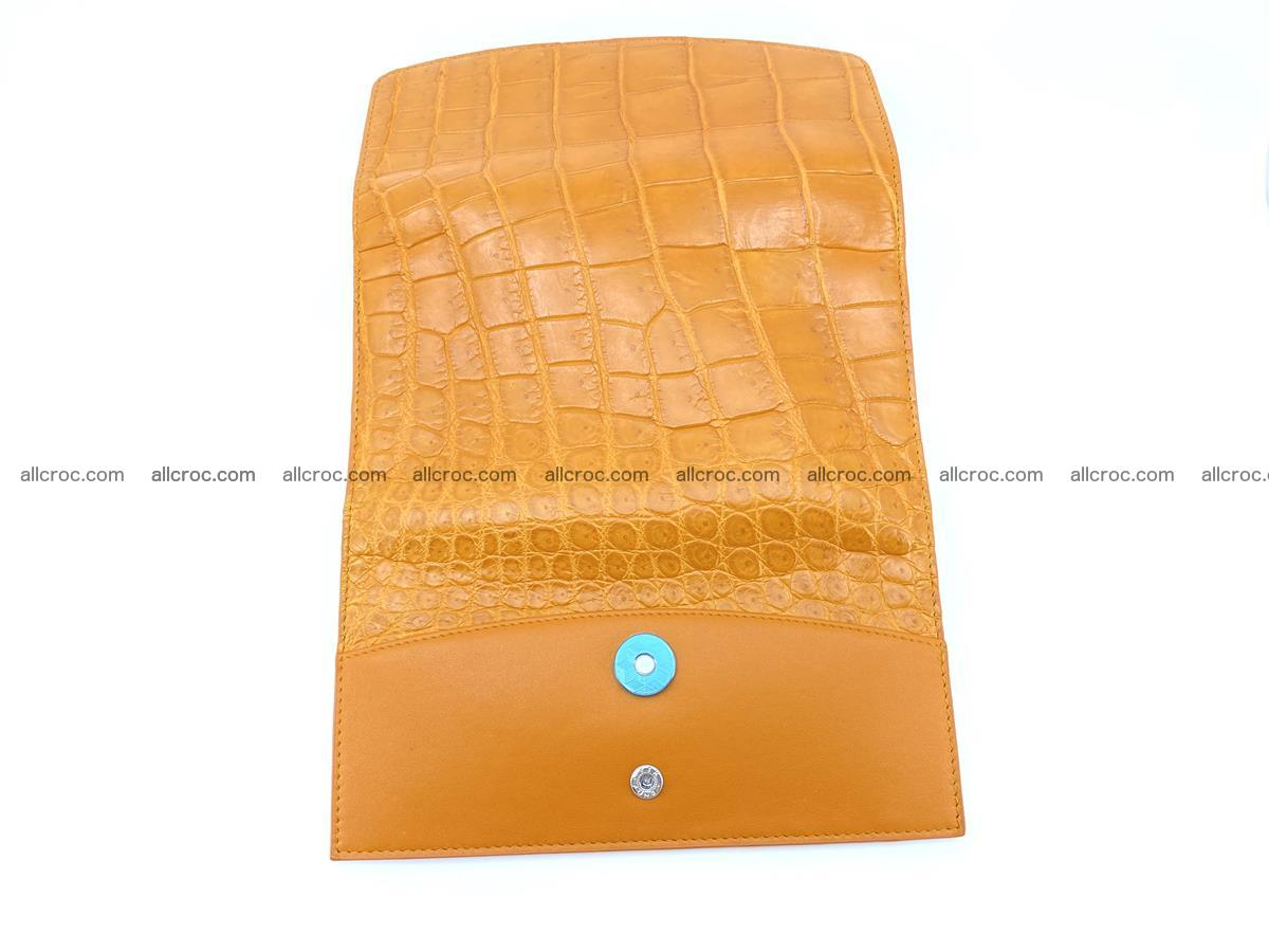 Crocodile leather long wallet trifold 627 Foto 9