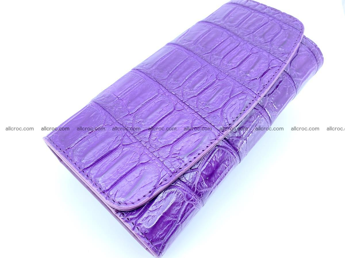Crocodile leather long wallet trifold 626 Foto 2