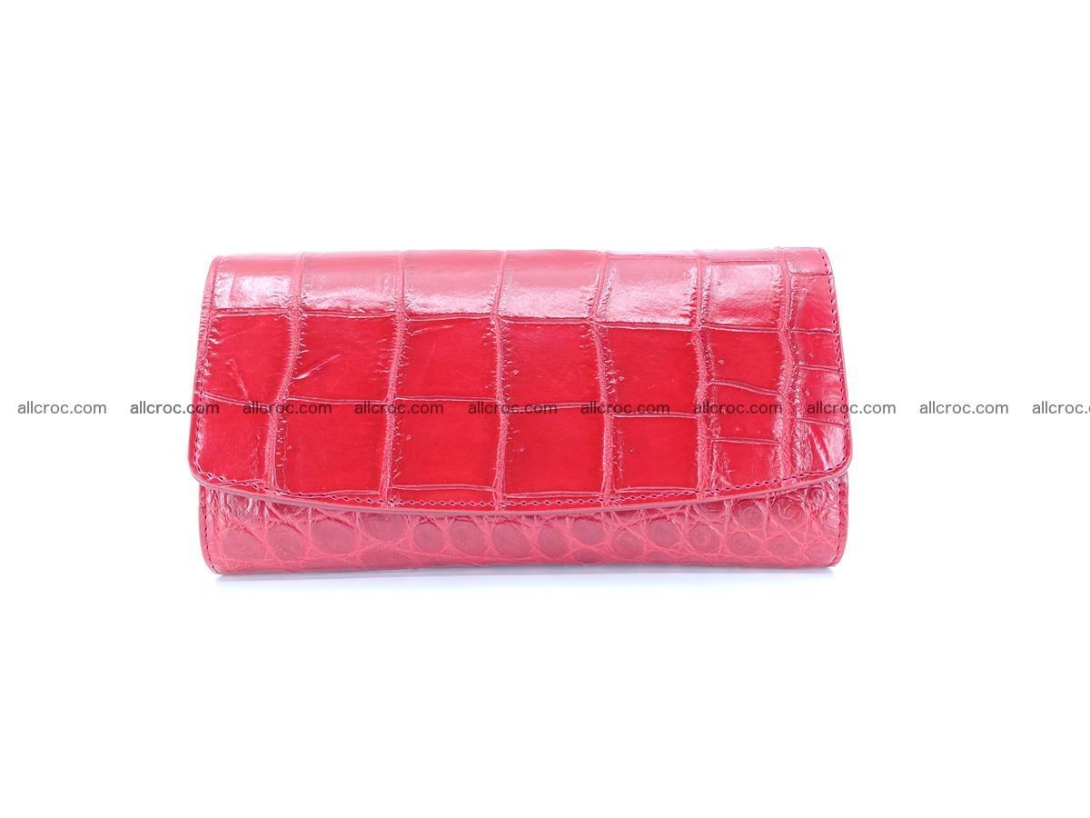 Crocodile leather long wallet trifold 622 Foto 0
