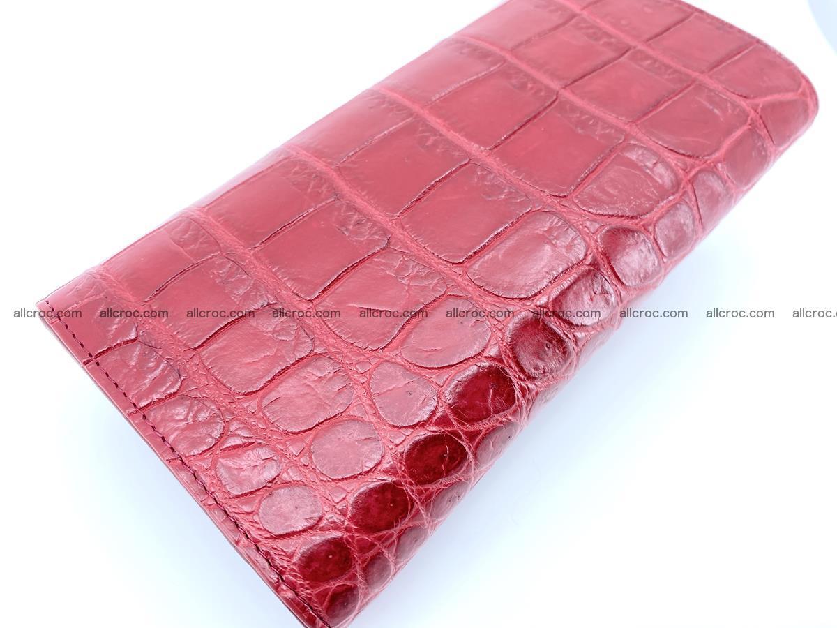 Crocodile leather long wallet trifold 622 Foto 3