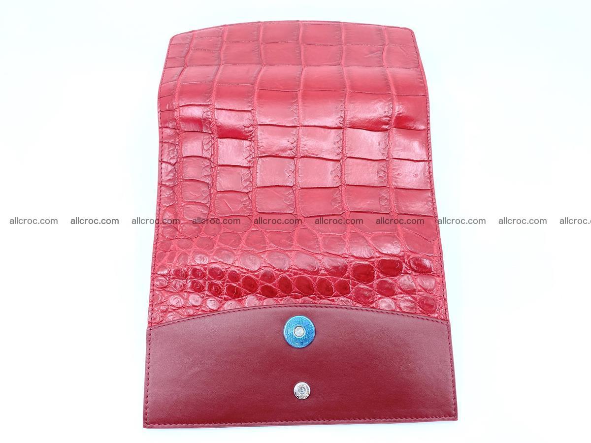 Crocodile leather long wallet trifold 622 Foto 8
