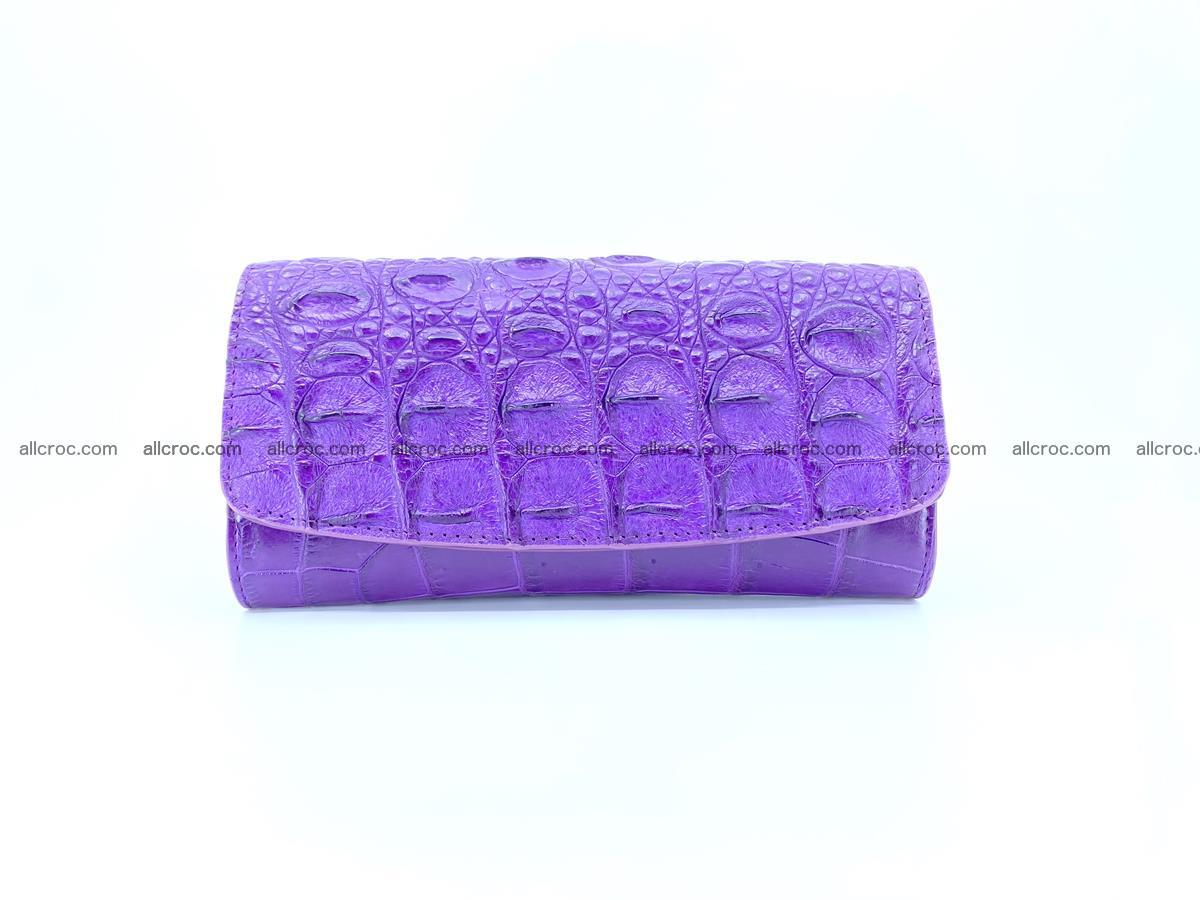 Crocodile leather long wallet trifold 629 Foto 0