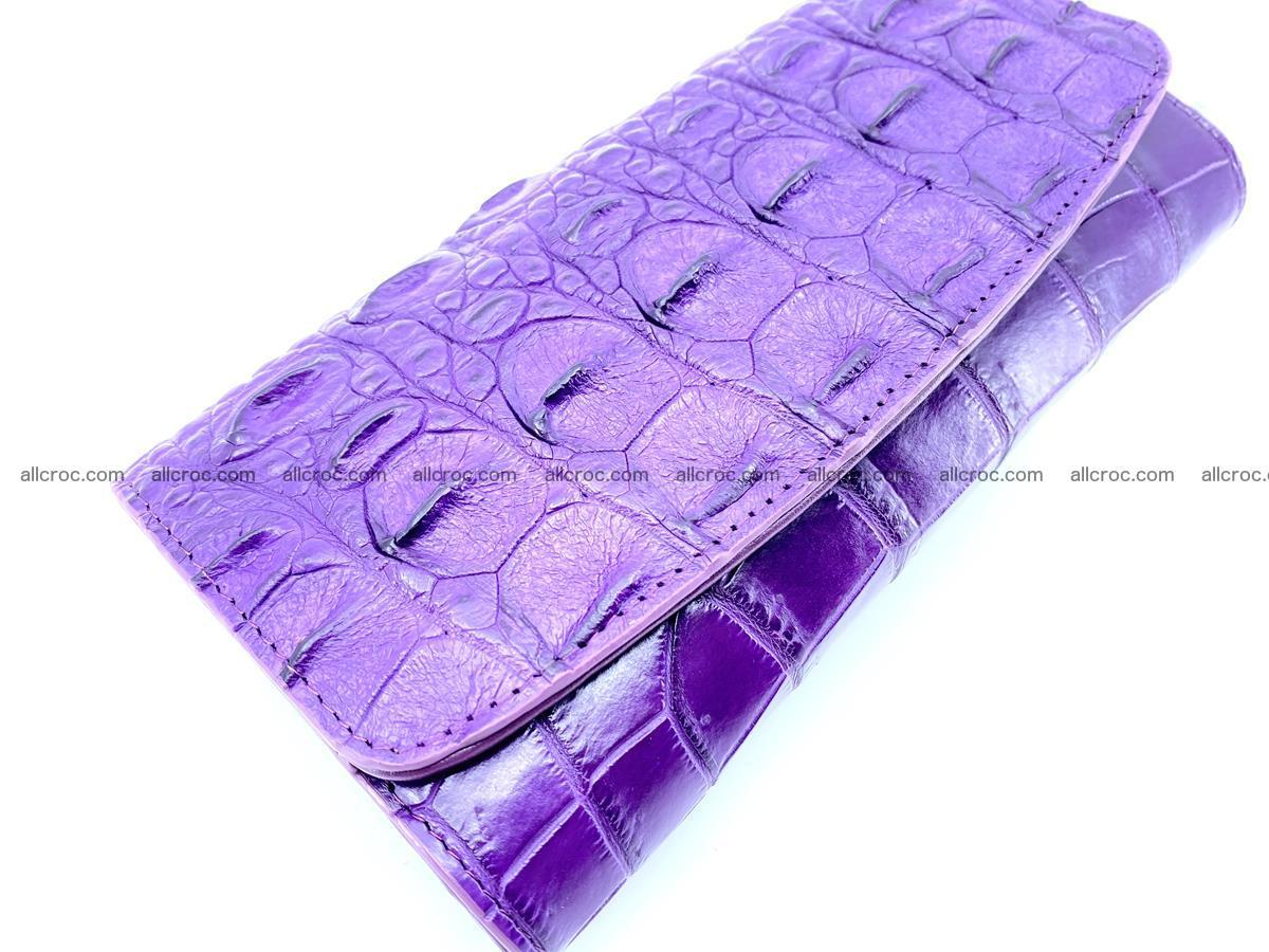 Crocodile leather long wallet trifold 629 Foto 2