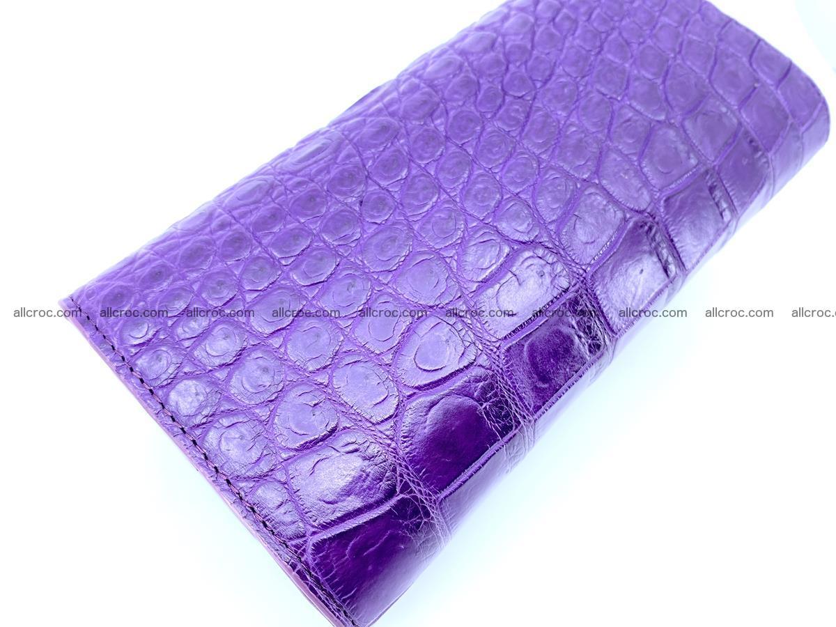 Crocodile leather long wallet trifold 629 Foto 3