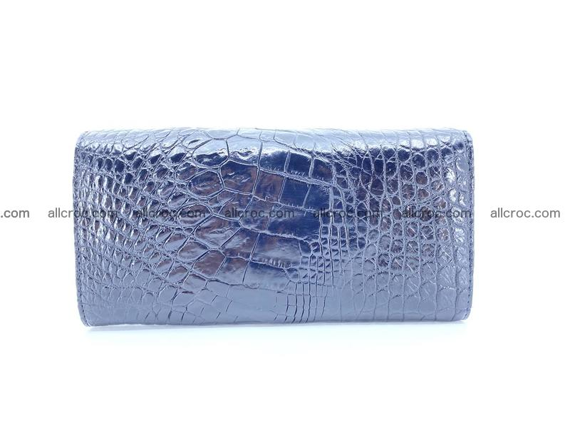 Crocodile leather long wallet trifold 620