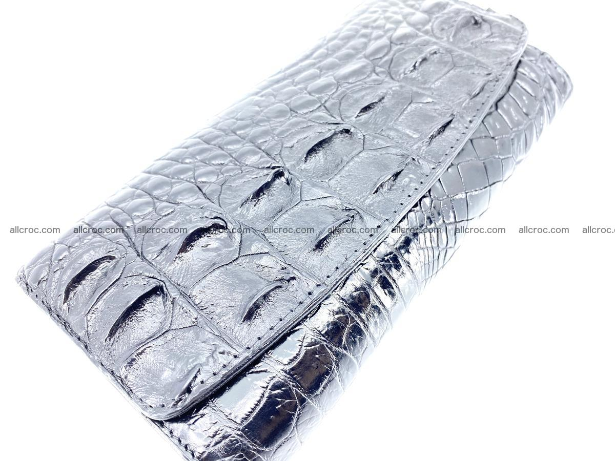 Crocodile leather long wallet trifold 620 Foto 2
