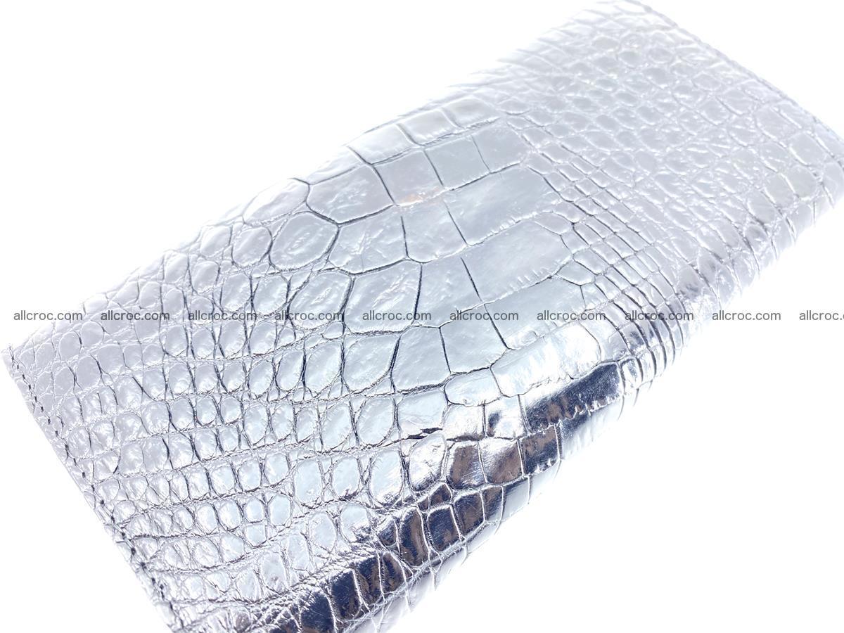 Crocodile leather long wallet trifold 620 Foto 3