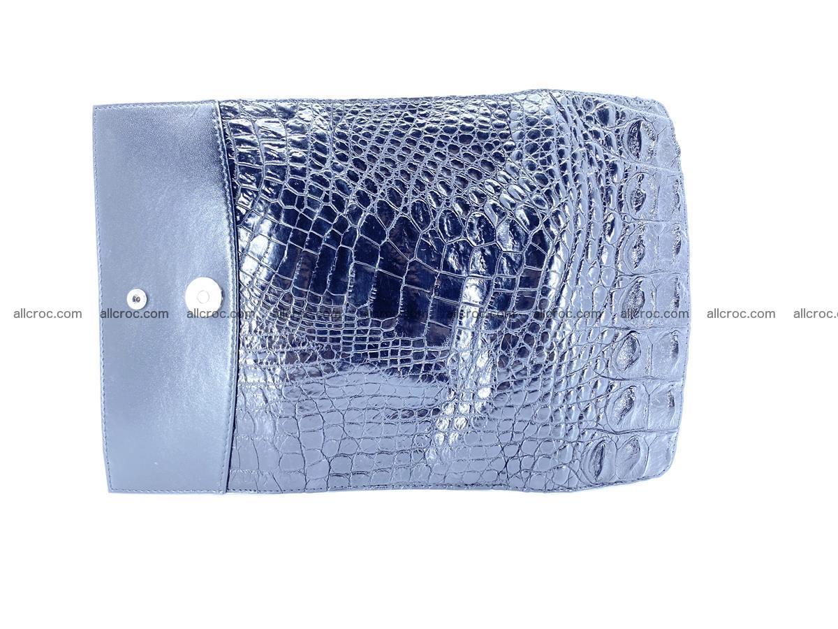Crocodile leather long wallet trifold 620 Foto 7