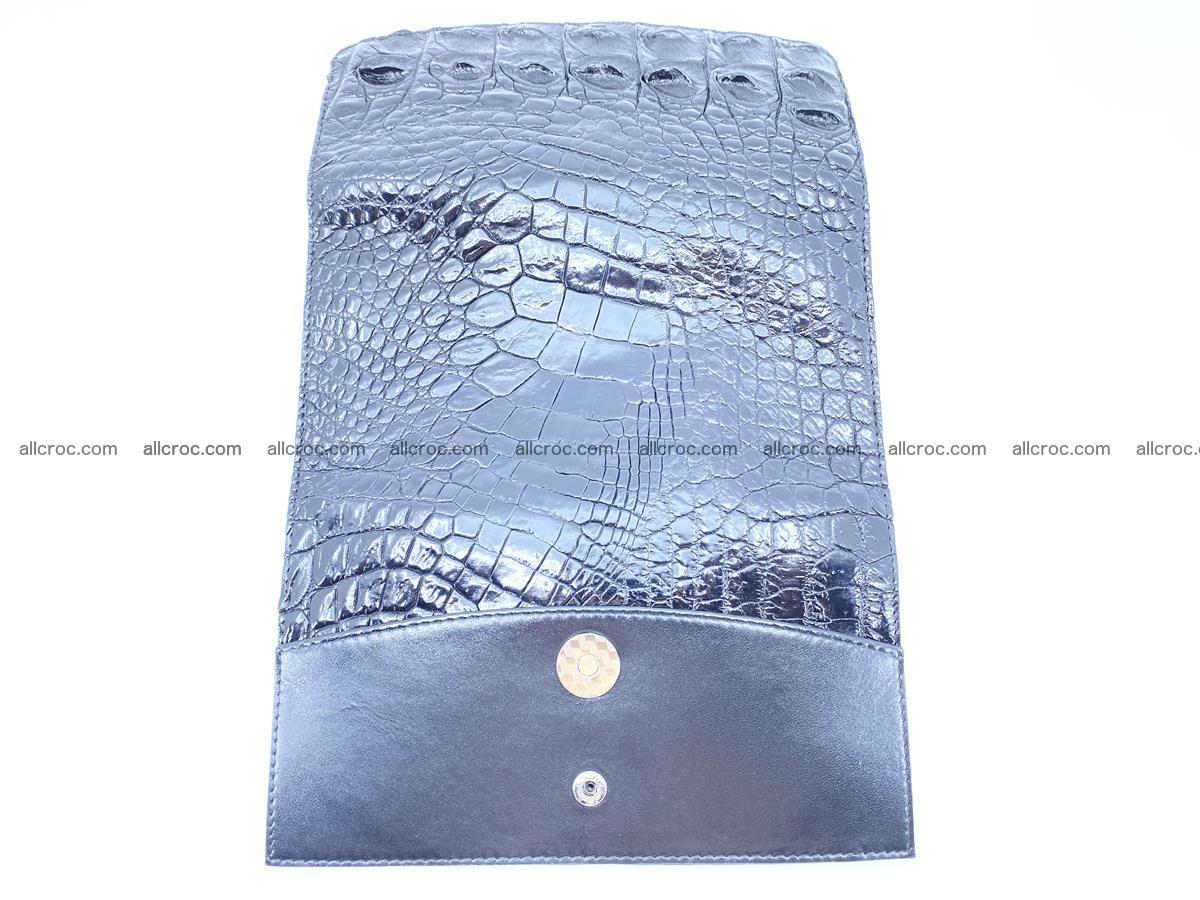 Crocodile leather long wallet trifold 620 Foto 6
