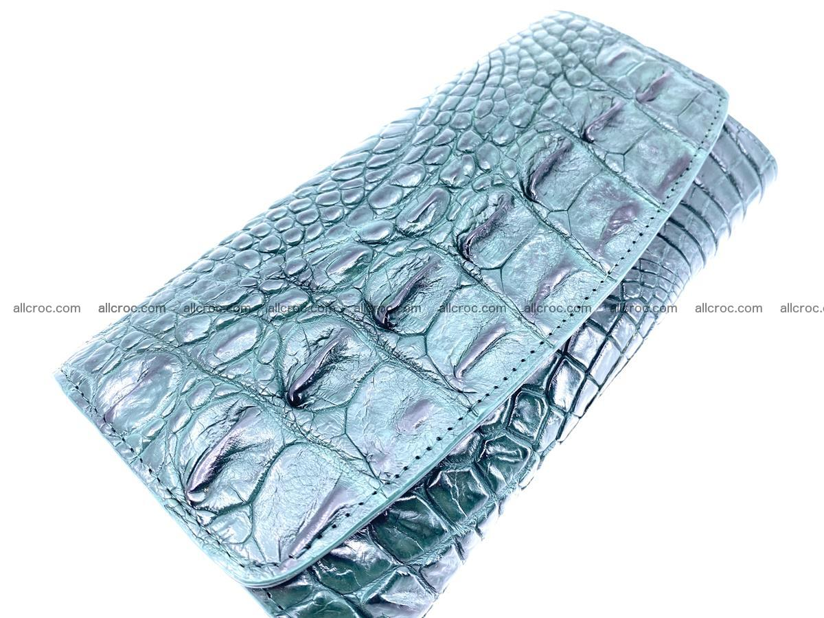 Crocodile leather long wallet trifold 621 Foto 2