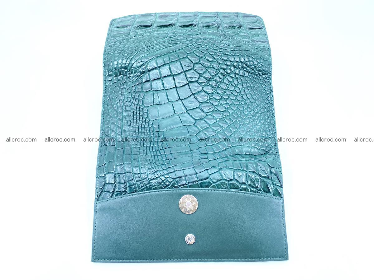 Crocodile leather long wallet trifold 621 Foto 9