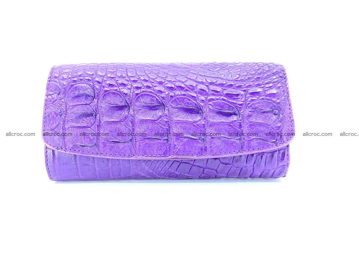Crocodile leather long wallet trifold 619 Foto 0