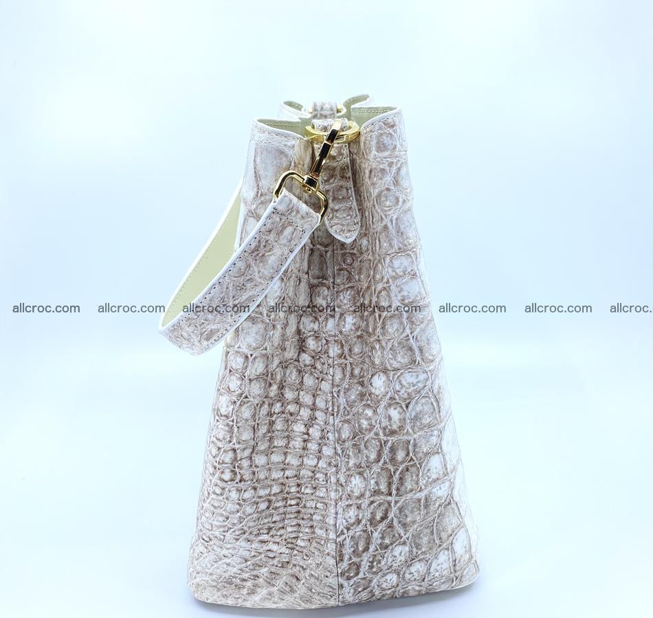 Women's crocodile skin handbag 1454 Foto 2