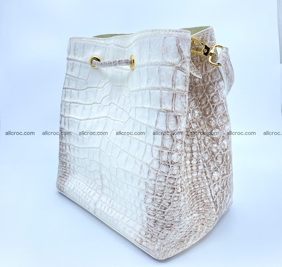 Women's crocodile skin handbag 1454 Foto 3