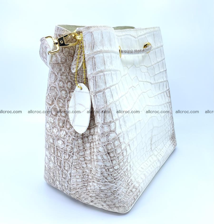 Women's crocodile skin handbag 1454 Foto 5