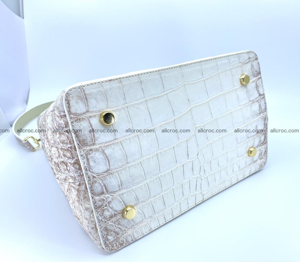 Women's crocodile skin handbag 1454 Foto 7
