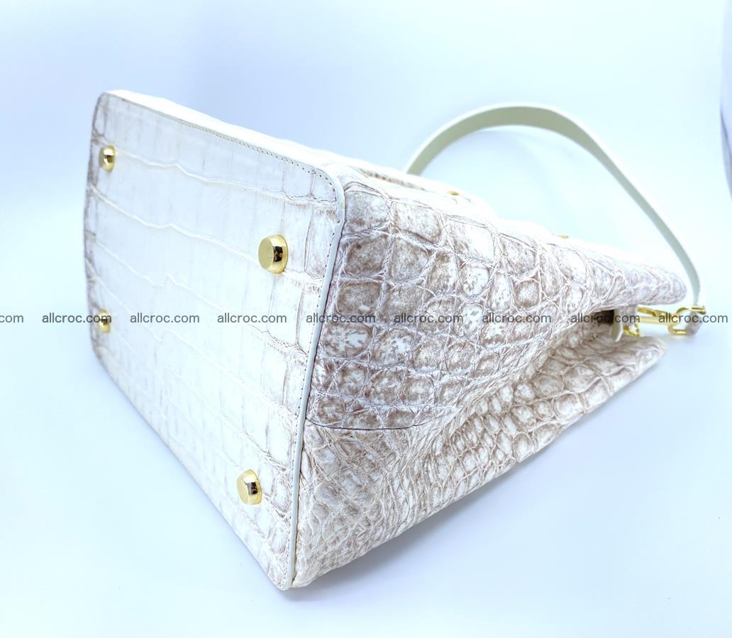 Women's crocodile skin handbag 1454 Foto 8