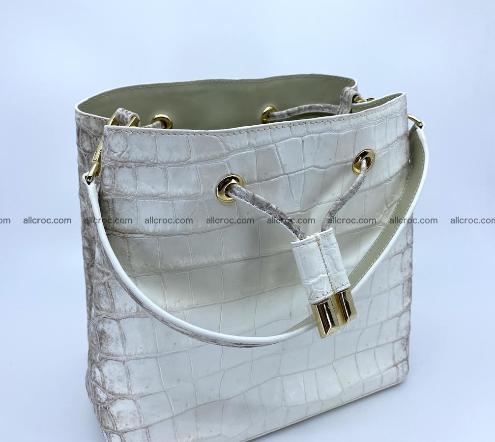 Women's crocodile skin handbag 1454 Foto 9