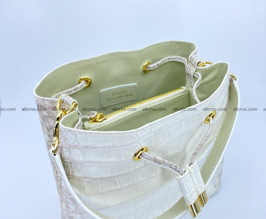 Women's crocodile skin handbag 1454 Foto 10