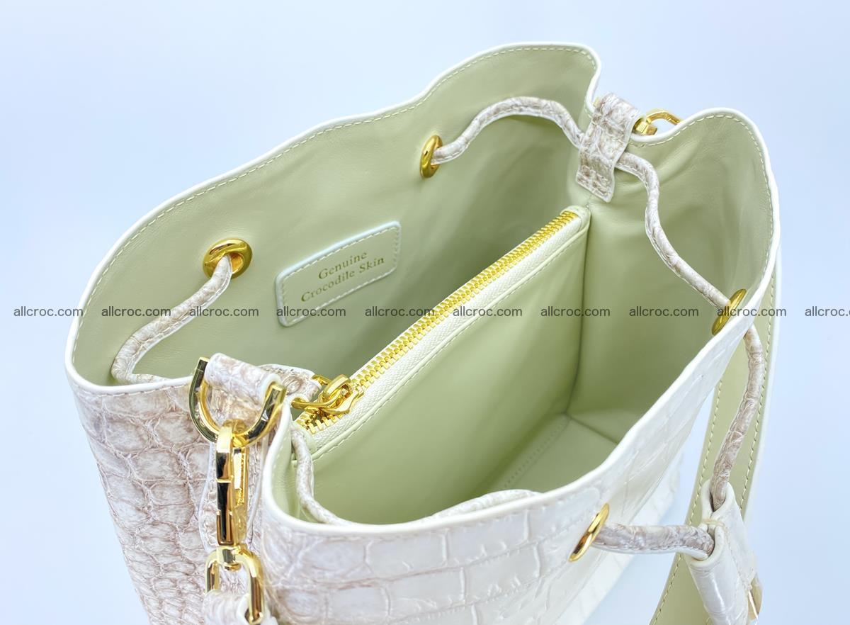 Women's crocodile skin handbag 1454 Foto 11