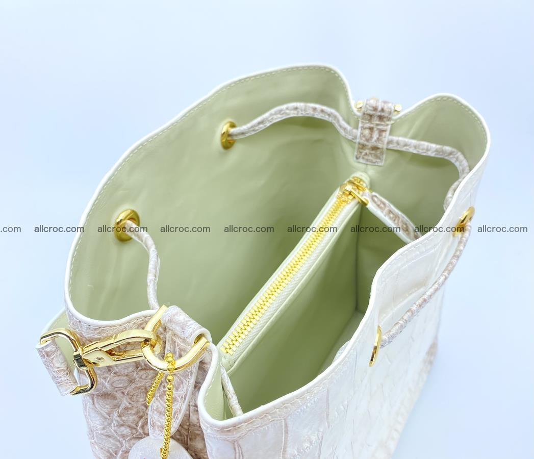 Women's crocodile skin handbag 1454 Foto 12