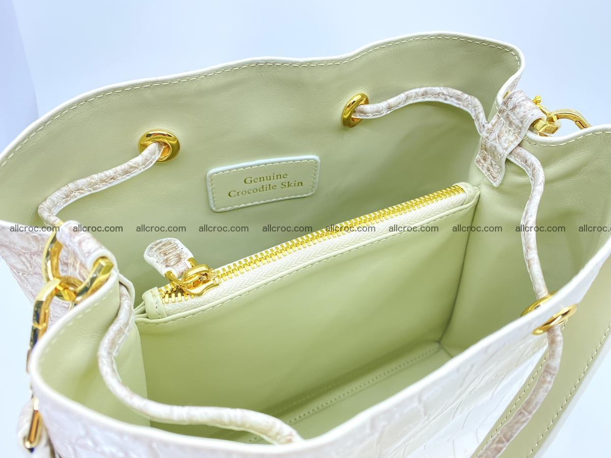 Women's crocodile skin handbag 1454 Foto 13