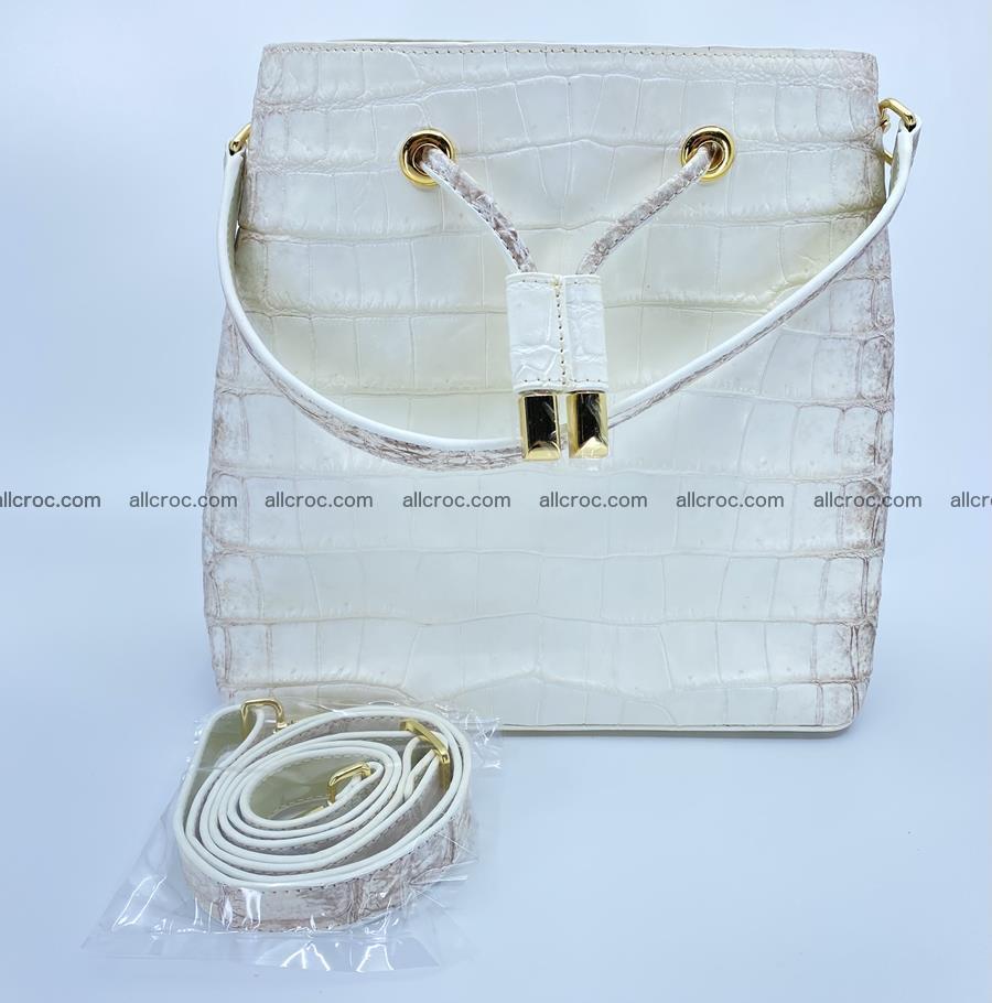 Women's crocodile skin handbag 1454 Foto 14