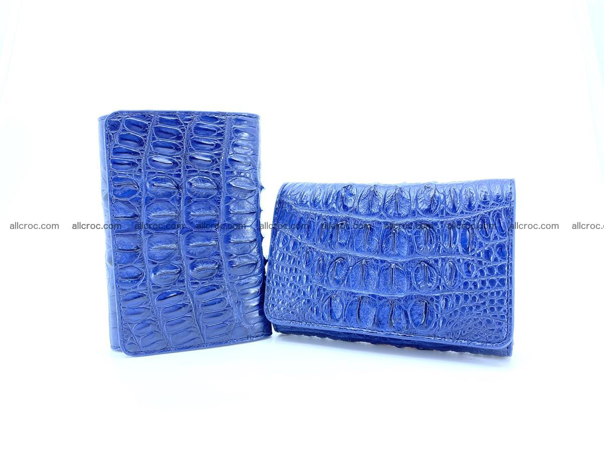 Women's wallet from crocodile leather 587 Foto 11