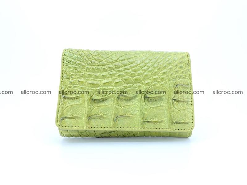 Women's wallet from crocodile leather 582